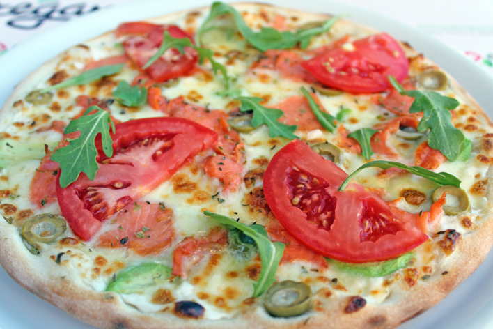 pizza de salmon